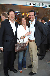 Left to right, the HON.JAMES TOLLEMACHE, the HON.SELINA TOLLEMACHE and The HON.EDWARD TOLLEMACHE at the launch of The Rupert Lund Showroom, 61 Chelsea Manor Street, London SW3 on 2nd May 2007.<br /><br />NON EXCLUSIVE - WORLD RIGHTS