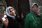 Mourning women after they have visiting their village attacked by syrian forces. On 22. February the syrian army attacked the village of Kureen, Province of Idlib, Syria. Kureen was among the first villages in the northwest of Syria controlled by the opposition. Some villagers and members of the defence units escaped to surrounding olive orchards, when the attack begun in the early morning. A majority of the inhabitants didn´t manage to escape. The heavy shelling lasts 7 houres. Soldiers searched all houses, burnt some of them down, loote shops, stole cars and furniture. About 60 motorcycles were burnt down. Tanks demolished several houses. 6 men were executed. One woman died as a result of an heart attack.