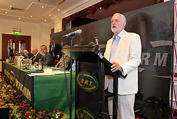 © Licensed to London News Pictures.  25/06/2017; Exeter, Devon, UK. JEREMY CORBYN, the leader of the Labour Party, speaks at the start of the RMT union's annual general meeting in Exeter. Picture credit : Simon Chapman/LNP