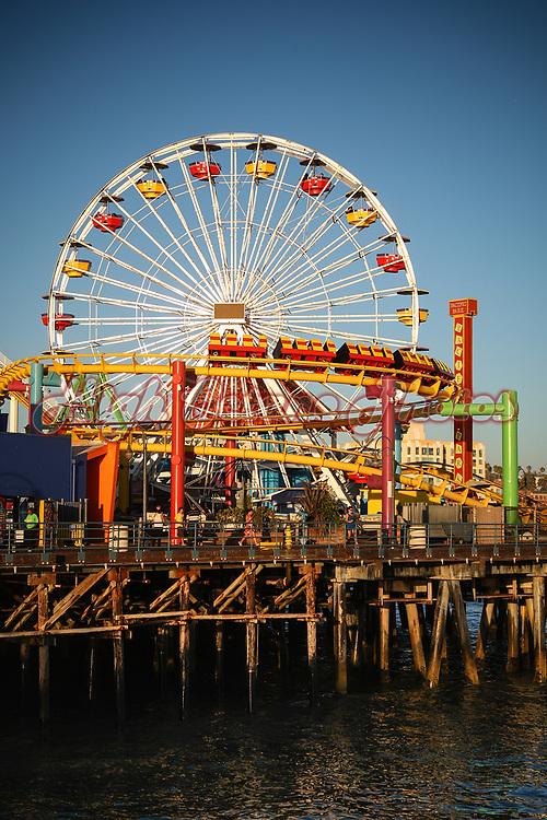Pacific Park on Santa Monica Pier, Los Angeles.