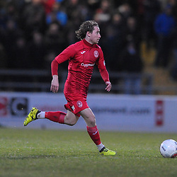 TELFORD COPYRIGHT MIKE SHERIDAN James McQuilkin of Telford during the Vanarama Conference North fixture between AFC Telford United and Chester at the 1885 Arena Deva Stadium on Saturday, December 21, 2019.<br /> <br /> Picture credit: Mike Sheridan/Ultrapress<br /> <br /> MS201920-035