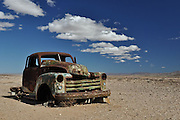 We stumbled across this old chevy abandoned on the side of a windswept gravel road in southern Namibia. Covered with rust, riddled with bullet holes, and stripped of anything of value, this old chevy wasn't going anywhere, but to our great surprise, the engine fan was still spinning!