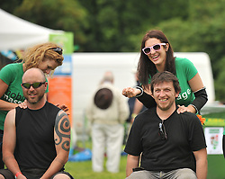 Mobile Massage were on site at the festival offering fans massage.<br /> Pic Conor McKeown