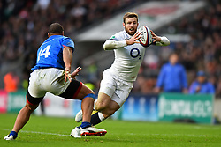 November 25, 2017 - London, England, United Kingdom - England's Elliot Daly in action during Old Mutual Wealth Series between England against Samoa at Twickenham stadium , London on 25 Nov 2017  (Credit Image: © Kieran Galvin/NurPhoto via ZUMA Press)