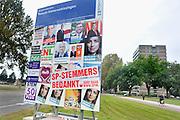 Nederland, Arnhem, 13-9-2012Verkiezingsbord met affiches voor de verkiezingen voor de tweede kamer. De SP bedankt haar kiezers voor hun stem van de voorgaande dag.Netherlands, election board with posters for the national elections. Foto: Flip Franssen/Hollandse Hoogte