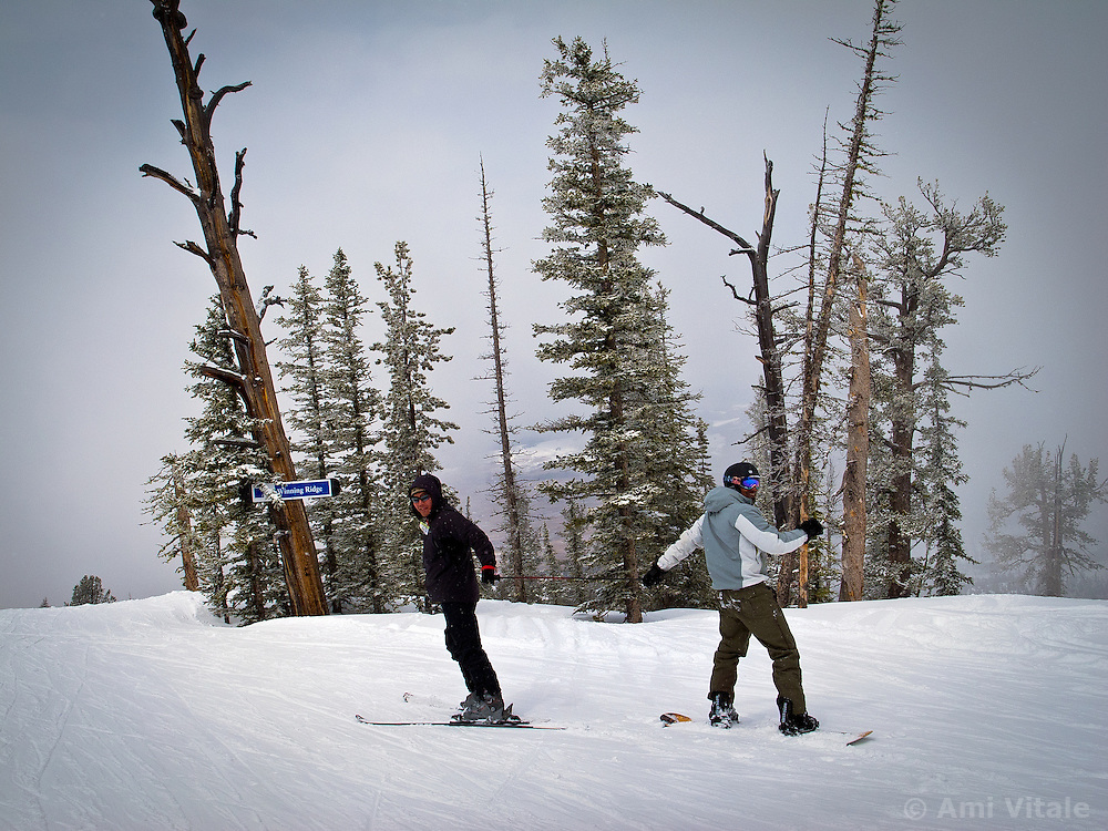 Skiers enjoy Discovery in Philipsburg, Montana  in February, 2011. (Photo by Ami Vitale)
