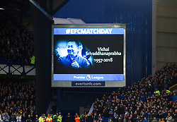 Applause for the late Leicester City owner Vichai Srivaddhanaprabha who died last week - Mandatory by-line: Jack Phillips/JMP - 03/11/2018 - FOOTBALL - Goodison Park - Liverpool, England - Everton v Brighton and Hove Albion - English Premier League