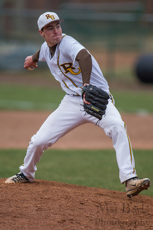 Rowan University Sophomore Right Handed Pitcher Matt Nelson (25) - Richard Stockton College Baseball at Rowan University at Rowan University in Glassboro, NJ on Thursday April 4, 2013. (photo / Mat Boyle)