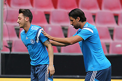 08.06.2015, RheinEnergie Stadion, Koeln, GER, Nationalmannschaft, Training, im Bild Sami Khedira (Real Madrid) schubst Mesut Oezil (FC Arsenal) // during a trainingssession of the german national team at the RheinEnergie Stadion in Koeln, Germany on 2015/06/08. EXPA Pictures © 2015, PhotoCredit: EXPA/ Eibner-Pressefoto/ Schüler<br /> <br /> *****ATTENTION - OUT of GER*****