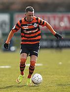 """FODBOLD: Daniel """"Elly"""" Pedersen (FC Helsingør) under kampen i Bet25 Ligaen mellem FC Roskilde og FC Helsingør den 24. marts 2016 i Roskilde Idrætspark. Foto: Claus Birch"""