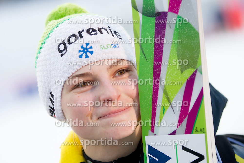 ROGELJ Spela of Slovenia during 11th Women FIS Ski Jumping World Cup competition in Planica replacing Ljubno  on January 25, 2014 at HS95, Planica, Slovenia. Photo by Vid Ponikvar / Sportida