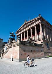 External view of Alte Nationalgalerie on Museum Island in Mitte Berlin