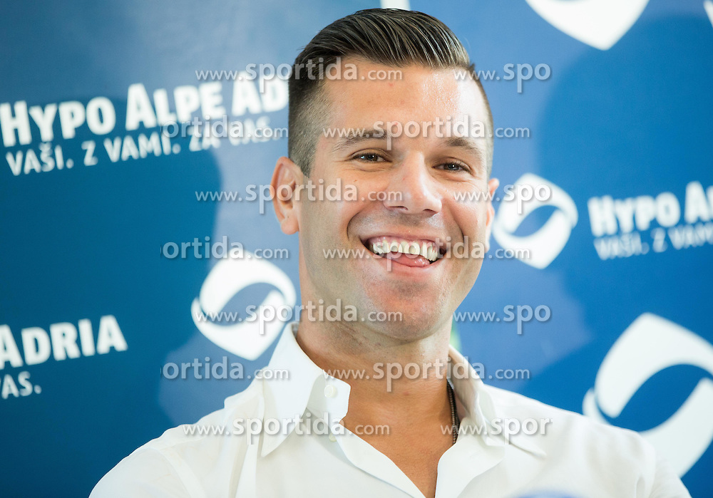 Press conference after Sani Becirovic, Slovenian Basketball player ended his a long and successful career and started as Coach Assistant in Panathinaikos, on July 22, 2015 in Ljubljana, Slovenia. Photo by Vid Ponikvar / Sportida