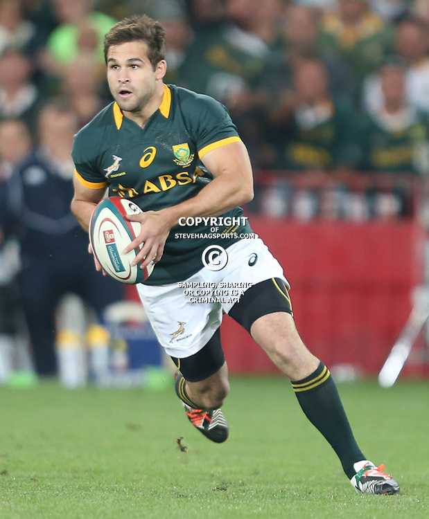 JOHANNESBURG, SOUTH AFRICA - OCTOBER 04: Cobus Reinach of South Africa during The Castle Rugby Championship match between South Africa and New Zealand at Ellis Park on October 04, 2014 in Johannesburg, South Africa. (Credit Steve Haag/Gallo Images)