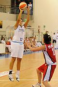 DESCRIZIONE : Ortona Giochi del Mediterraneo 2009 Mediterranean Games Italia Italy Albania Preliminary Women<br /> GIOCATORE : Manuela Zanon<br /> SQUADRA : Nazionale Italiana Femminile<br /> EVENTO : Ortona Giochi del Mediterraneo 2009<br /> GARA : Italia Italy Albania<br /> DATA : 28/06/2009<br /> CATEGORIA : tiro<br /> SPORT : Pallacanestro<br /> AUTORE : Agenzia Ciamillo-Castoria/G.Ciamillo