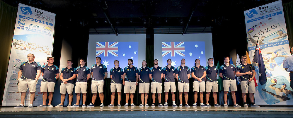 Australia<br /> Opening Ceremony<br /> day 00 - 22/06/2015<br /> FINA Water Polo World League Superfinal Men<br /> Bergamo (ITA) 23-28 June 2015<br /> Photo G.Scala/Deepbluemedia