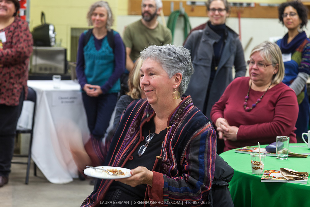 """The launch party of """"share"""", FoodShare's 1st cookbook. Nov. 14, 2012"""