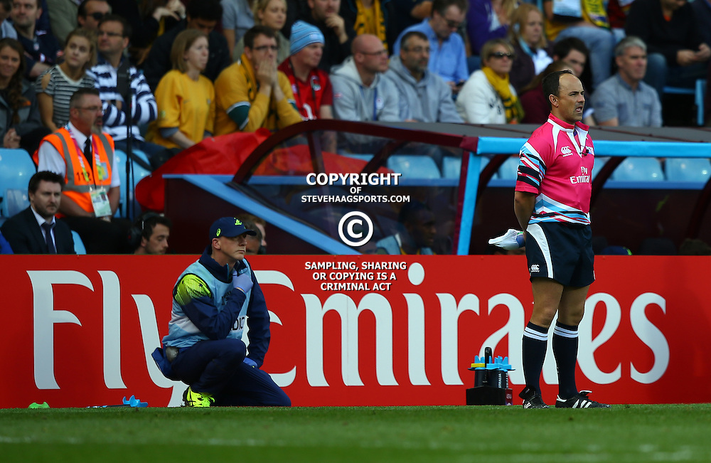 BIRMINGHAM, ENGLAND - SEPTEMBER 27: Jaco Perper (SA) Assistant Referee during the Rugby World Cup 2015 Pool A match between Australia and Uruguay at Villa Park on September 27, 2015 in Birmingham, England. (Photo by Steve Haag/Gallo Images)