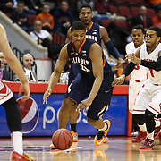 Malcolm Hill #21 of the Illinois Fighting Illini dribbles the ball during the NIT First Round game at Agganis Arena on March 19, 2014 in Boston, Massachusetts . (Photo by Elan Kawesch)