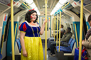 UNITED KINGDOM, London: 23 October 2015. <br /> Comic Con Feature.<br /> A zombified Snow White (Jade Sweetman 21) makes her way to the 2015 MCM London Comic Con which is being held at London's ExCel Arena.<br /> Photo: Rick Findler / Story Picture Agency