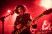 Heather Baron-Gracie, the lead singer and guitarist of the band the Pale Waves performs at the Lexington Pub in London.