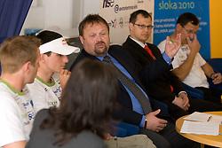 Vicepresident Bojan Zmavc at press conference of Kayak and Canoe Federation of Slovenia, on April 7, 2010, in Avtotehna VIS, Ljubljana, Slovenia.  (Photo by Vid Ponikvar / Sportida)
