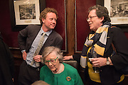 HAL CAZALET; LADY HORNBY, KATE ANDREW, David Campbell Publisher of Everyman's Library and Champagen Bollinger celebrate the completion of the Everyman Wodehouse in 99 volumes and the 2015 Bollinger Everyman Wodehouse prize shortlist. The Archive Room, The Goring Hotel. London. 20 April 2015.