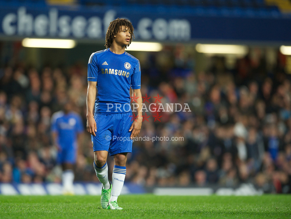 LONDON, ENGLAND - Friday, April 19, 2013: Chelsea's Nathan Ake in action against Liverpool during the FA Youth Cup Semi-Final 2nd Leg match at Stamford Bridge. (Pic by David Rawcliffe/Propaganda)
