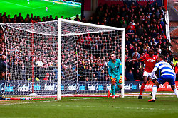 The ball goes in from Nottingham Forest but is quickly ruled out - Mandatory by-line: Ryan Crockett/JMP - 22/02/2020 - FOOTBALL - The City Ground - Nottingham, England - Nottingham Forest v Queens Park Rangers - Sky Bet Championship