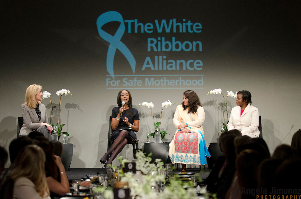 The White Ribbon Alliance for Safe Motherhood hosts the Wake up Call Women's Breakfast for Maternal Health at the Stephan Weiss Studio in New York City on September 21, 2012. ..Immediately preceding an important week of global conversations including the UN General Assembly and Clinton Global Initiative, the White Ribbon Alliance for Safe Motherhood will bring together Sarah Brown, Arianna Huffington and Donna Karan to host a breakfast in New York City highlighting the urgent need to unlock the $70 billion pledged to save the lives of pregnant women, mothers and their newborns around the world. The breakfast conversation will unite existing high-level champions and WRA grassroots leaders with an important group of women in business and philanthropy to highlight the White Ribbon Alliance's critical role in ensuring maternal health remains at the top of the policy agenda...www.whiteribbonalliance.org..Photo by Angela Jimenez for the White Ribbon Alliance.www.angelajimenezphotography.com