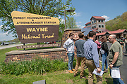 OHIO students and faculty are leading three separate research programs in collaoration with the Wayne National Forest this summer. Photo by Ben Siegel