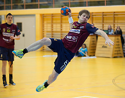 09.12.2014, Sporthalle, Leoben, AUT, OeHB-Cup Achtelfinale, Union JURI Leoben vs SG INSIGNIS Handball West Wien, im Bild Andreas Schwarz(Leoben) // durning the OeHB-Cup, Round of the last sixteen, between, Union JURI Leoben vs SG INSIGNIS Handball West Wien at the Sport Hall, Leoben, Austria on 2014/12/09, EXPA Pictures © 2014, PhotoCredit: EXPA/ Dominik Angerer