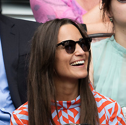 WIMBLEDON - GB -  4th July 2016: The Wimbledon Tennis Championship continues at the All England Lawn Tennis Club in S.E. London.<br /> <br /> Pippa Middleton<br /> <br /> Photo by Ian Jones