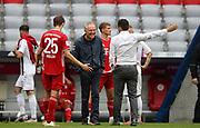 Christian Streich Trainer head coach von SC Freiburg mit Thomas Müller Mueller #25 von FC Bayern Muenchen und SALIHAMIDZIC During the Bayern Munich vs SC Freiburg Bundesliga match  at Allianz Arena, Munich, Germany on 20 June 2020.