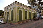 Restored colonial style building in San German Puerto Rico