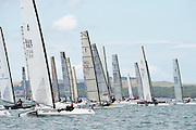 The start of race two of the A Class World championships regatta being sailed at Takapuna in Auckland. 11/2/2014