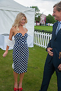 DR. KATE JAMES; ROB HERSOV , Cartier Queen's Cup. Guards Polo Club, Windsor Great Park. 17 June 2012
