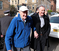 "Glasgow Film Festival, Sunday 3rd March 2019<br /> <br /> UK Premiere of ""Final Ascent""<br /> <br /> Pictured: Sir Michael Palin arrives and greets Hamish MacInnes<br /> <br /> Alex Todd 