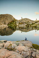 """Lake in the Tahoe Back Country 3"" - Photograph of a small lake with no name in the Tahoe area back county, somewhat near Jackson Meadows."