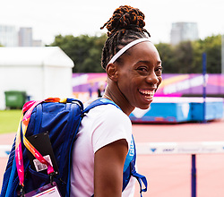 London, 03 August 2017. Great Britain and Northern Ireland long jumper Shara Proctor ahead of the IAAF World Championships London 2017 at the London Stadium.
