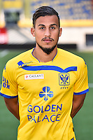 STVV's Faycal Rherras poses for the photographer during the 2015-2016 season photo shoot of Belgian first league soccer team STVV, Friday 17 July 2015 in Sint-Truiden.