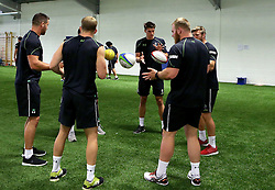A small group of Worcester Warriors players take part in a training exercise - Mandatory by-line: Robbie Stephenson/JMP - 07/06/2016 - RUGBY - Worcester Warriors - Pre-season training session
