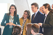 Queen Letizia of Spain, Pablo Iglesias, Vice President of Social Rights and Agenda 2030 attends the Proclamation of the winner of the '2020 Princess of Girona Foundation' Social category at Agora sociocultural center on February 28, 2020 in A Coruna, Spain