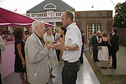 Michael Craig-Martin and Johnny Shand Kidd, The Summer Party sponsored by Yves St. Laurent. Serpentine Gallery. 11 July 2006. . ONE TIME USE ONLY - DO NOT ARCHIVE  © Copyright Photograph by Dafydd Jones 66 Stockwell Park Rd. London SW9 0DA Tel 020 7733 0108 www.dafjones.com