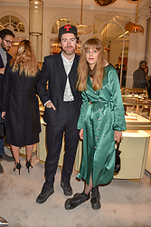 Philip Colbert and Charlotte Colbert at the reopening of the Cartier Boutique, New Bond Street, London, England. 31 January 2019. <br /> <br /> ***For fees please contact us prior to publication***