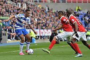 Reading's Nick Blackman on the attack during the Sky Bet Championship match between Reading and Charlton Athletic at the Madejski Stadium, Reading, England on 17 October 2015. Photo by Mark Davies.