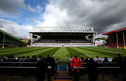 A general view of Welford Road, home of Aviva Premiership side Leicester Tigers - Mandatory by-line: Robbie Stephenson/JMP - 16/09/2017 - RUGBY - Welford Road - Leicester, England - Leicester Tigers v Gloucester Rugby - Aviva Premiership
