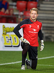 ADELAIDE, AUSTRALIA - Sunday, July 19, 2015: Liverpool's goalkeeper Simon Mignolet during a training session at Coopers Stadium ahead of a preseason friendly match against Adelaide United on day seven of the club's preseason tour. (Pic by David Rawcliffe/Propaganda)