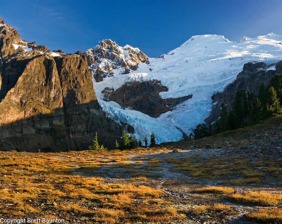 Mt. Baker Wilderness Area, Demming Glacier, Mazama Park; Mt. Baker; Pacific NW; WA, Fall Color