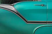 close up of chrome on vintage auto
